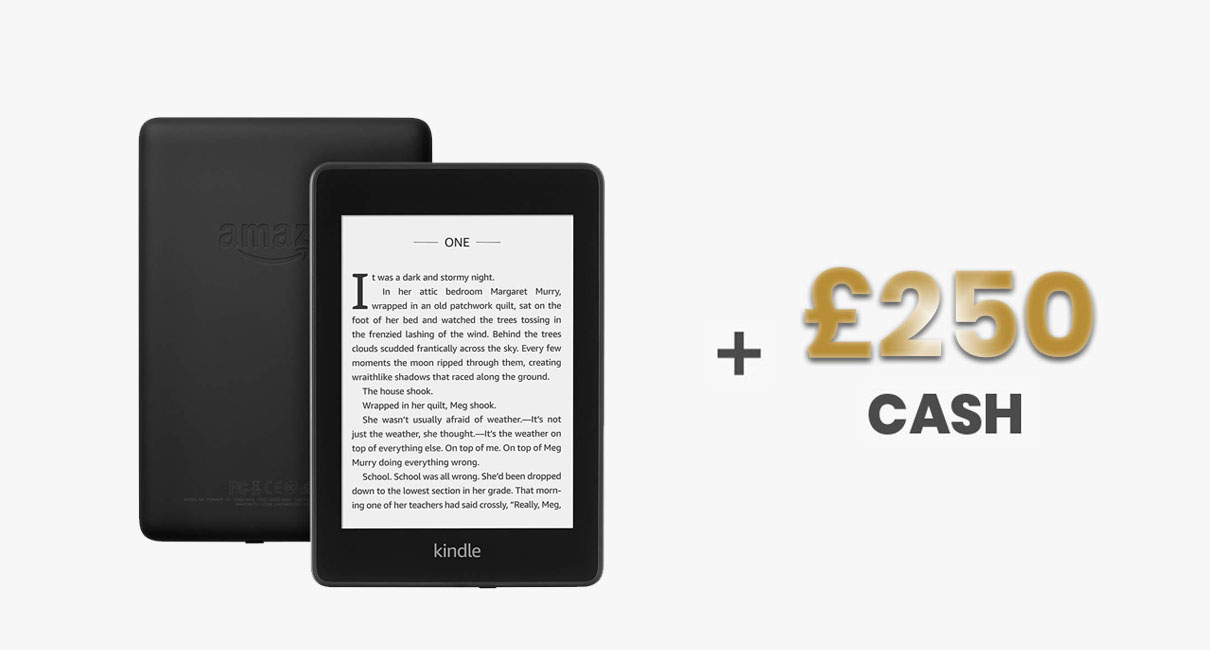 Amazon Kindlle and £250