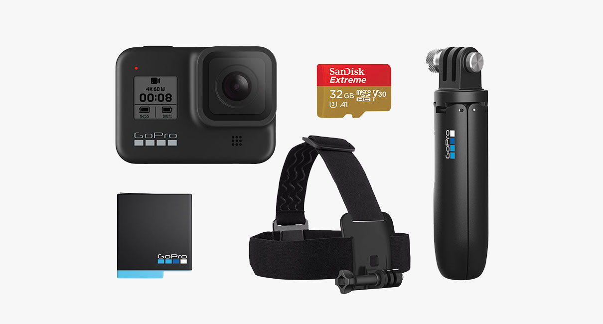 GoPro bundle on blank screen