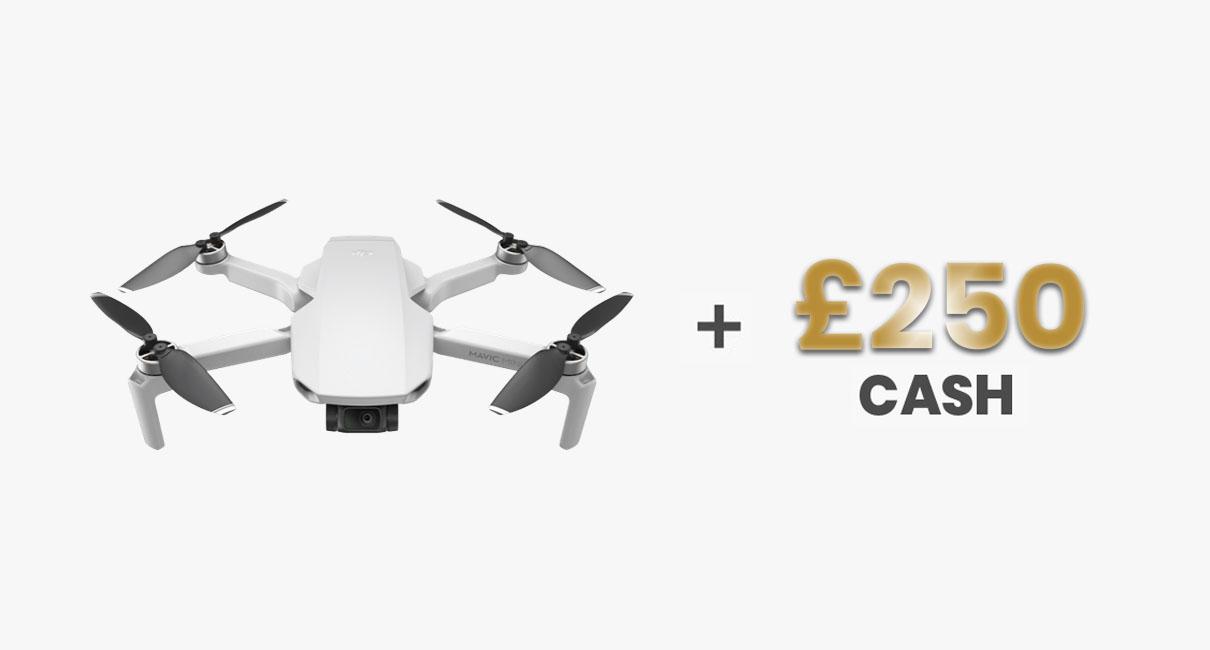 Mavic mini drone and £250