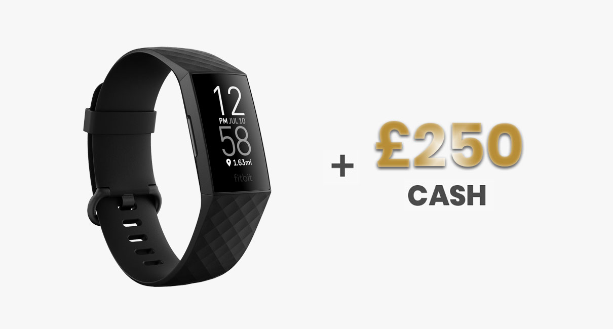 Fitbit Charge 4 and £250