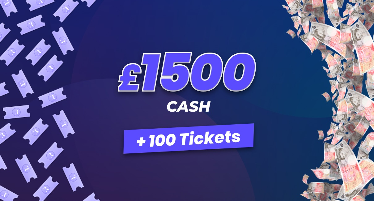 £1500 and 100 tickets