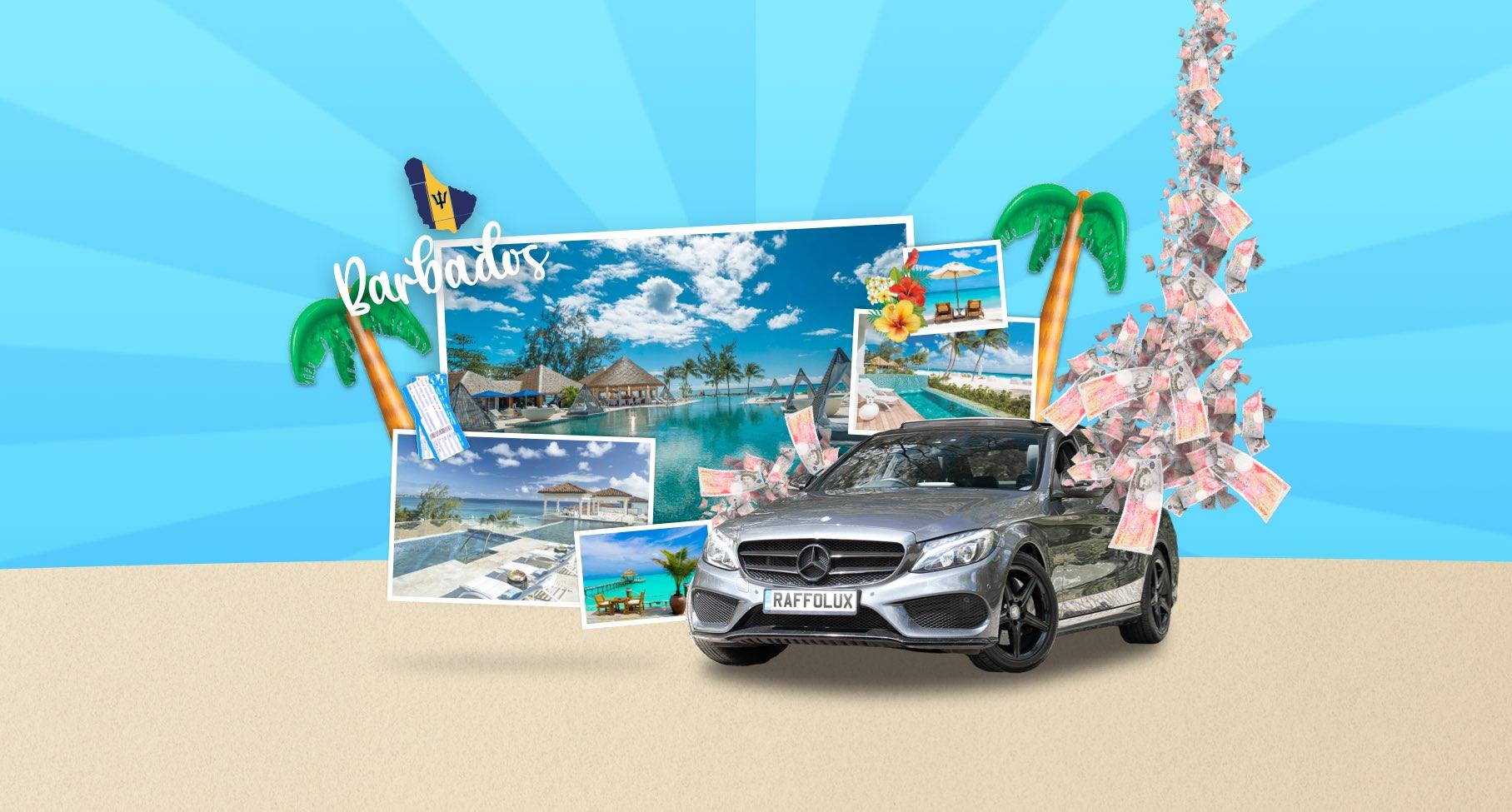 Mercedes OR Barbados OR £15k