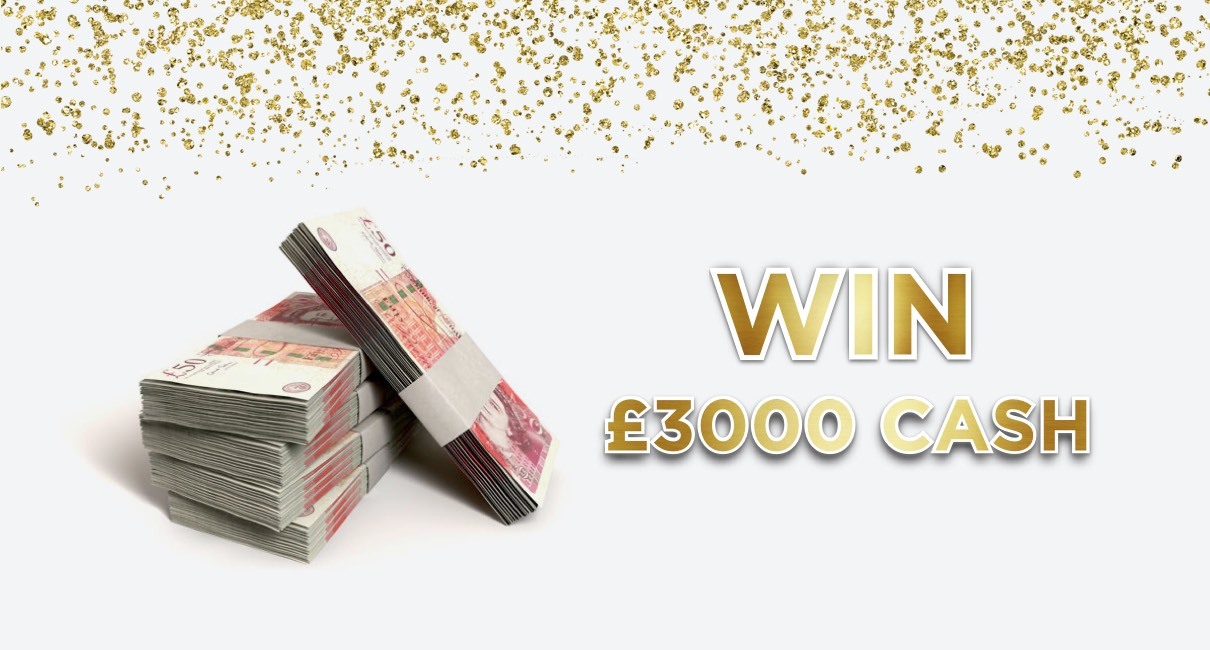 Win £3000 cash