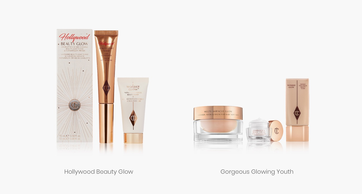 Charlotte Tilbury Hollywood beauty glow and gorgeous glowing youth