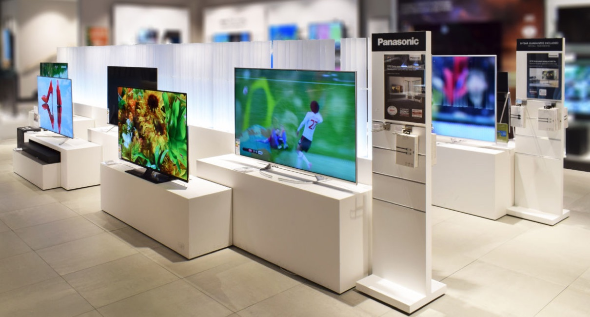 Panasonic TV on display in department store
