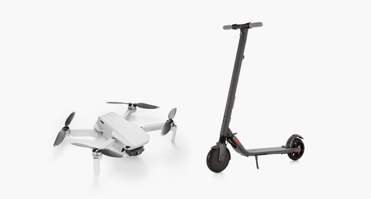Mavic Mini and Ninebot Segway Scooter