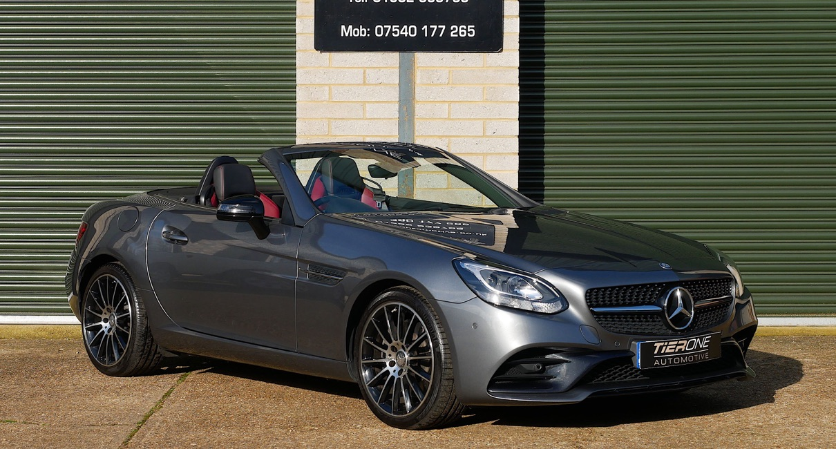 Win a car with Raffolux, win this Mercedes Benz SLC 300 AMG Line Convertible