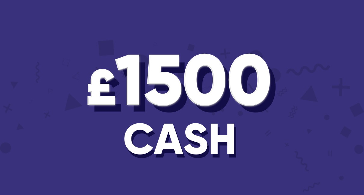 Win £1,500 cash