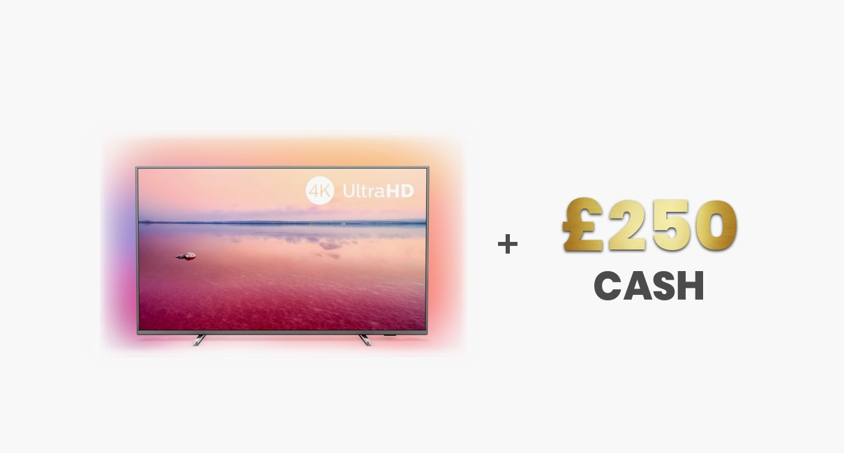 "Philips 55"" and £250"