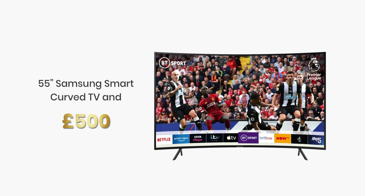 Samsung 55 inch curved Smart TV