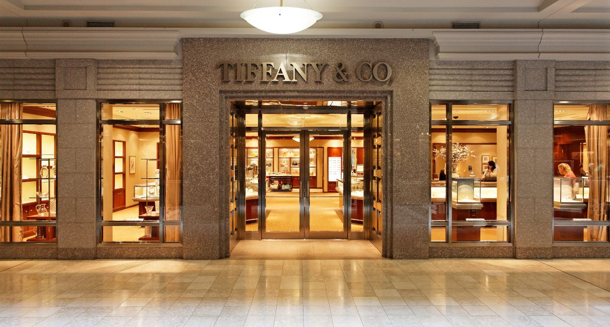 Tiffany and Co marble storefront