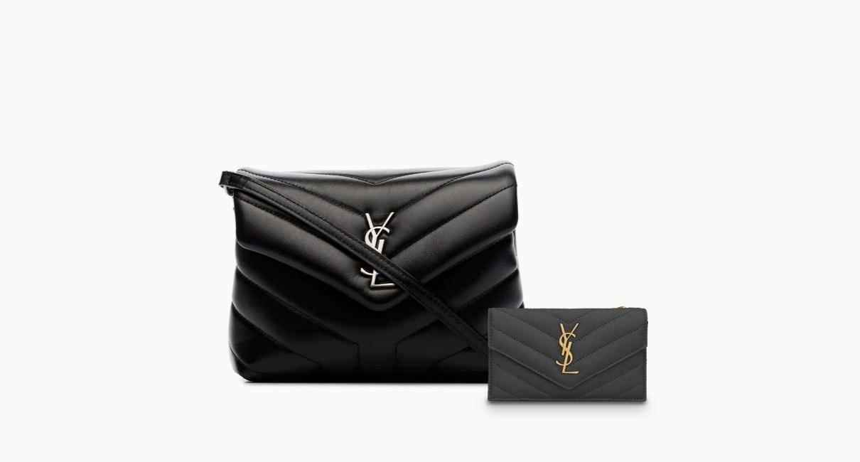 Saint Laurent Loulou toy shoulder bag and card holder