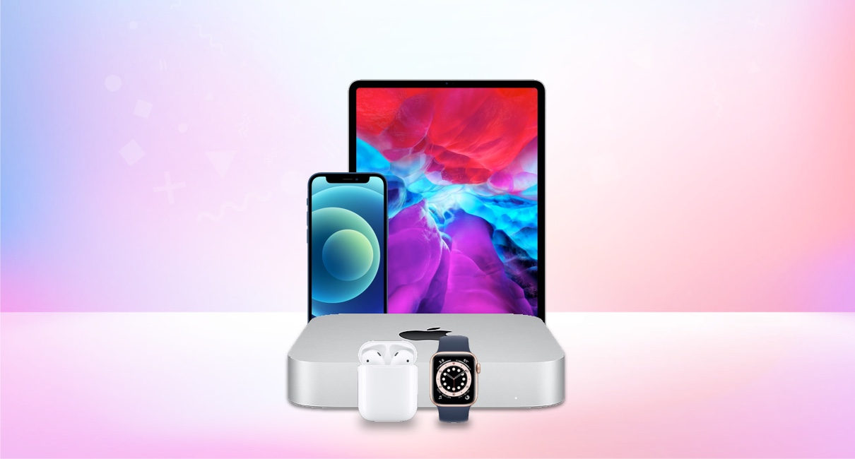 Mac Mini 2020 iPhone 12 Mini iPad Air Apple Watch S6 Airpods