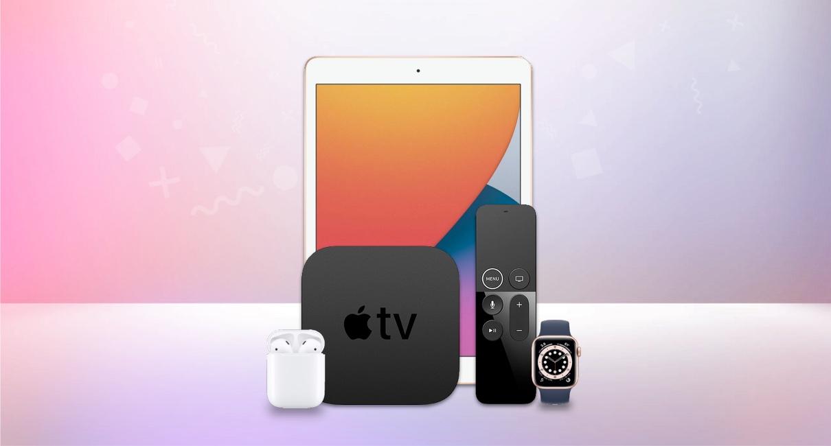 Apple iPad, Apple TV, Airpods, Watch S6