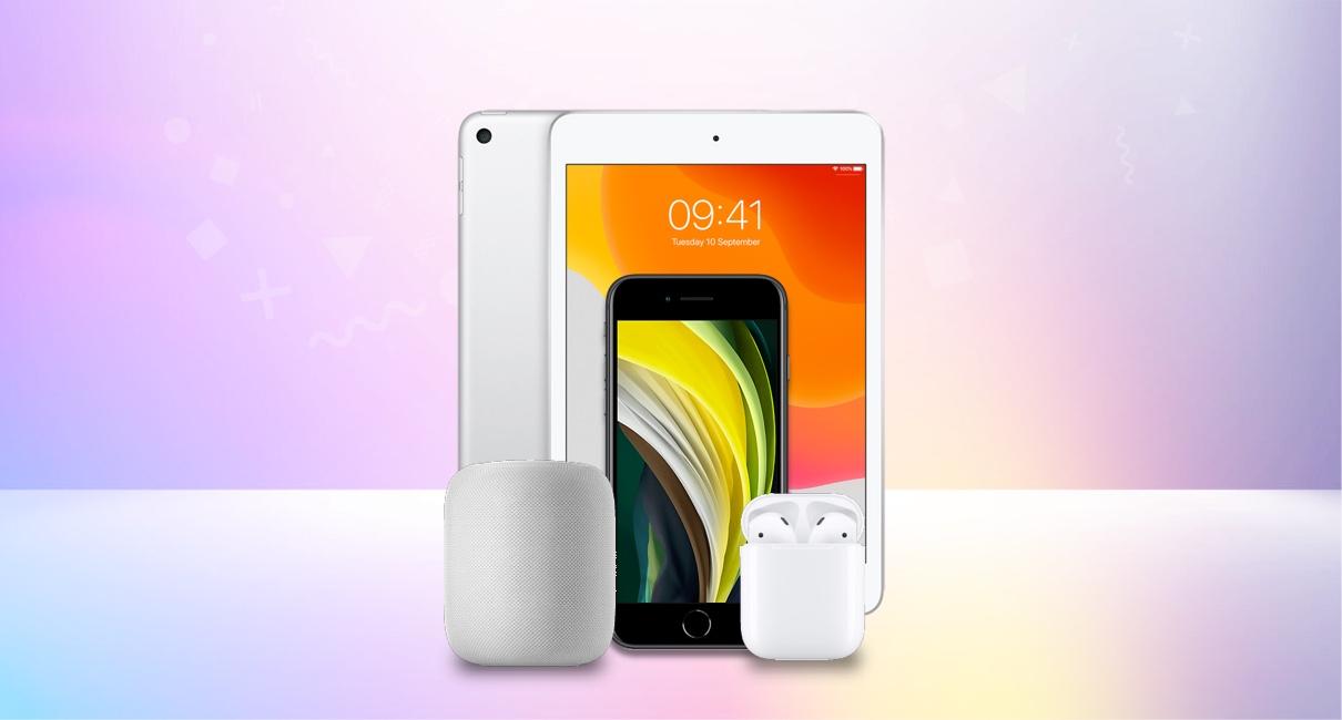 iPhone SE, iPad Mini, Homepod, Airpods