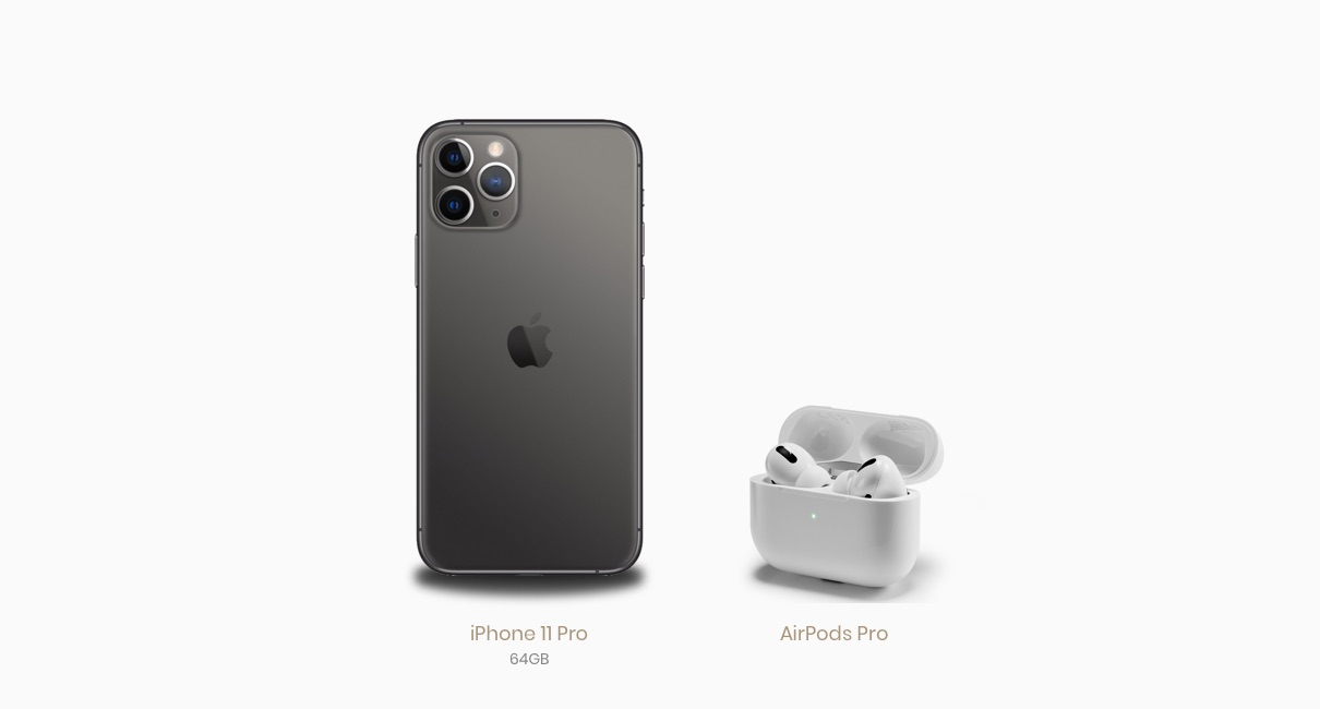 iPhone 11 Pro and AirPods